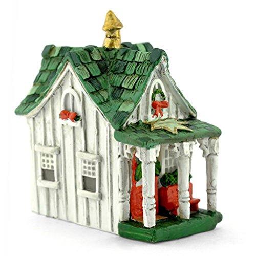 Miniature FAIRY GARDEN Micro Mini Christmas Cottage (Cherub Weathervane)