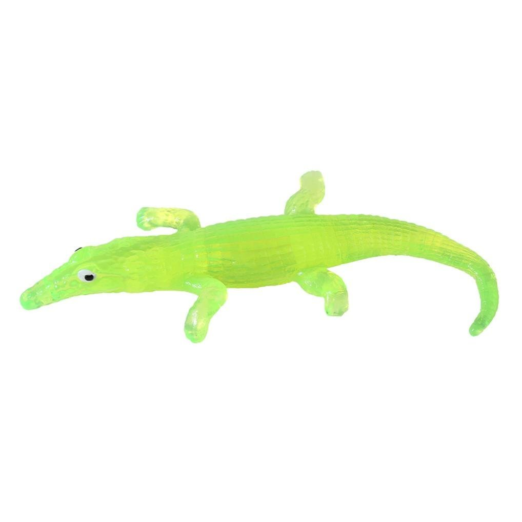 Fun Toys, Party Favors, Stretchy Crocodile Kids Party Bag Fillers Stretch Novelty Gift Boy Girls Toy for Sensory Kids (Green)