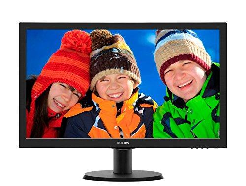 Philips 243V5LSB/00 V-Line 23.6'' 1080p Full HD LED-Backlit LCD Monitor, Black (Philips Accessories Monitor)