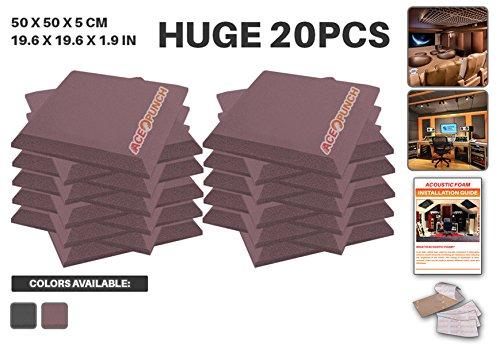 ace-punch-20-pack-black-flat-bevel-acoustic-foam-panel-diy-design-studio-soundproofing-wall-tiles-so