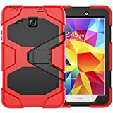 PC Hardware : Galaxy Tab E 8.0 Case, Beimu 3 in 1 Hard PC+Silicone Hybrid Kickstand Feature Heavy Duty Shockproof Impact Resistant Rugged Armor Defender Protection Case with Screen Protector