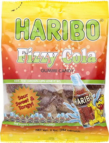 Haribo Fizzy Cola Gummi Candy, 5 oz (Pack of 3)