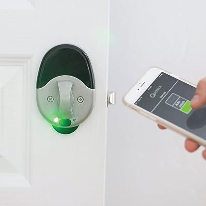 The QuickLock DoorLock Electronic Keyless Door Lock Opens Using Your Smart  Phone, Bluetooth, A
