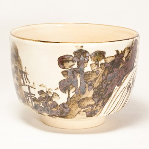 Kenzan copy Takiyama water tea bowl by Hana Gwangsan kiln