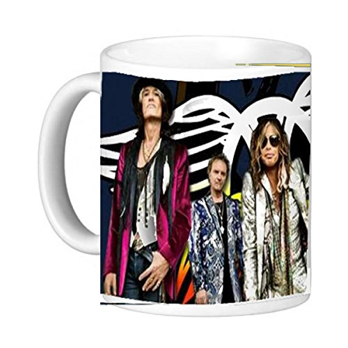 Aerosmith 11 oz, Ceramic Coffee Mug - Photo Quality Gift, Rock and Roll Hall of Fame Steven ()