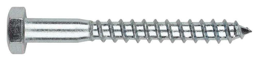 INDEX Fixing Systems DIN-571-Confezione da 50 Viti per legno agglomerato, testa esagonale, zincato, VTB05040_