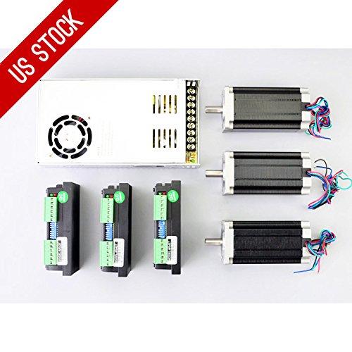 3 Axis CNC Kit 3Nm Nema 23 Stepper Motor & M542T Driver CNC Router Laser Lathe