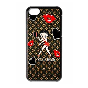DIY Printed Betty Boop cover case For iPhone 5C BM5800117