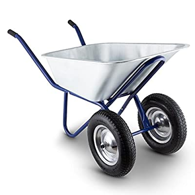 Waldbeck-Heavyload-Wheelbarrow-Garden-Cart-2-Wheel-Zinc-Plated-Steel-Robust-with-Powder-Coating-on-the-Frame-120-Litres-Volume-320-kg-Load-Capacity-Large-Rubber-Blue