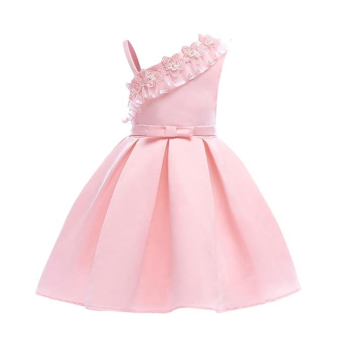Btruely Herren 🍁Ropa bebé 2018 Verano Vestidos para bebé Niña sin Mangas bebé Vestidos Floral Princesa Fiesta Vestido de Novia para Cumpleaños Dress: ...