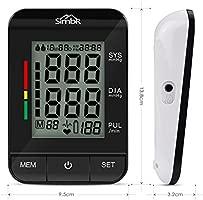 SIMBR Tensiómetro de Brazo Digital con Detección de Arrítmia y Pantalla LCD Retroilumina y Memoria (2×90) con Tecnología Certificada por CE ROHS FDA