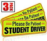 #2: Student Driver Magnet Car Signs for the Novice or Beginner. Better than A Decal or Bumper Sticker (Reusable) Reflective Magnetic Large Bold Visible Text (10
