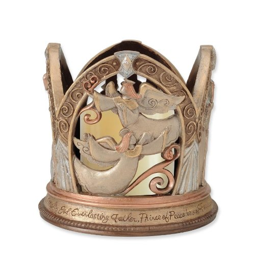 Enesco Legacy of Love Nativity-LED Centerpiece, 5.375-Inch