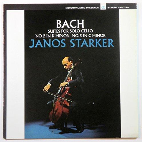 Bach: Suites for Solo Cello No. 2 in D Minor / No. 5 in C Minor - Janos Starker
