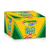 Crayola 144 Coloured Sanigene Dustless Chalk, School and Craft Supplies, Teacher and Classroom Supplies, Gift for Boys and Girls, Kids, Ages 3,4, 5, 6 and Up, Arts and Crafts,  Gifting