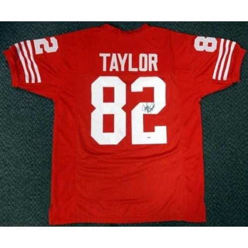 a53c48781 best John Taylor Autographed Jersey - Red - PSA DNA Certified - Autographed  NFL Jerseys