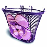 Basil Kids Jasmin Front Oval Bike Basket, 12-20 Inches - Lilac/Soft Pink