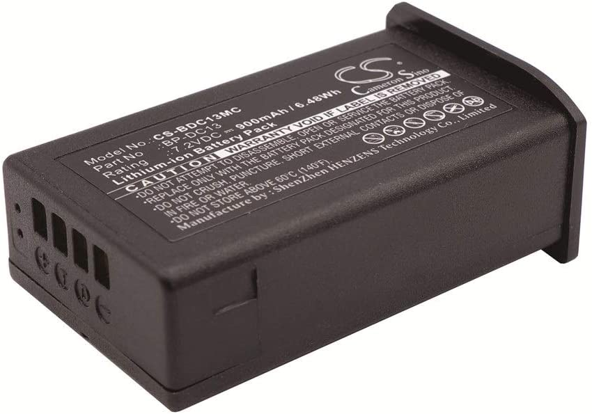 Aiyawear 900mAh//6.48Wh 7.2V Camera Battery Compatible with Leica Silver 19800 T T Digital Camera Leica BP-DC13 Color : Black, Size : 53.00 x 32.00 x 20.50 mm
