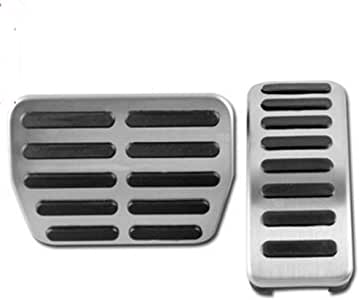 DANDELG Stainless Steel Car Pedals Cover Case,For Audi TT Pedale A1 A2 A3 GTI,For VW Seat Skoda Golf 3 4 Polo 9N3