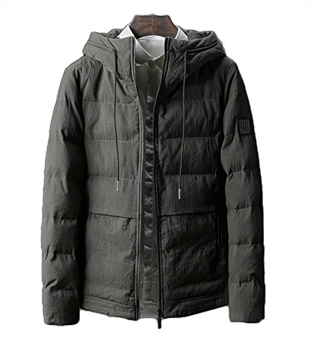 Cotton B grey Thicken Men Hooded Zippered Jacket Outerwear Casual 4XL Winter Warm Padded L qtwpHZ