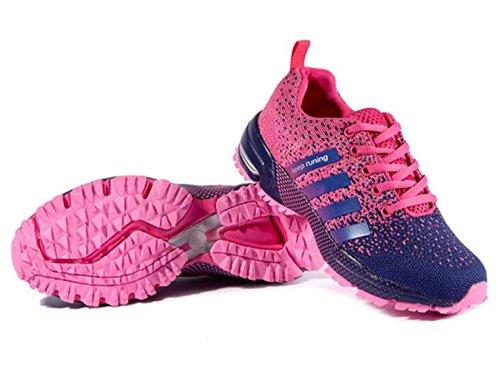 Laufschuhe Herren Damen Leicht Wanderschuhe Gute Qualität Sneaker Rosa 39