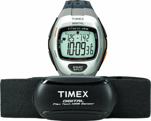 Trainer Zone (Timex Men's T5K735 Zone Trainer Digital HRM Flex Tech Chest Strap & Full-Size Dark Gray/Silver-Tone Watch)