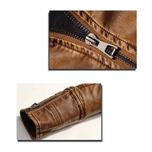 Outwear Imitación Collar Cuero Betrothales Moda Traje Pie Con Chaqueta Parka Gelb Diseño Chaquetas Motorista xF08q78wS