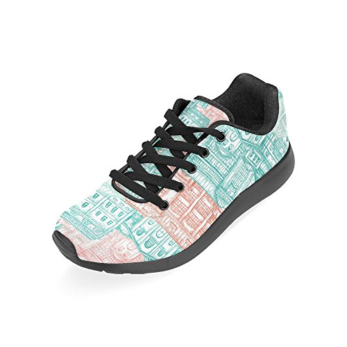 Interestprint Kvinners Joggesko Jogging Lette Sports Gå Atletisk Sneaker Multi 2