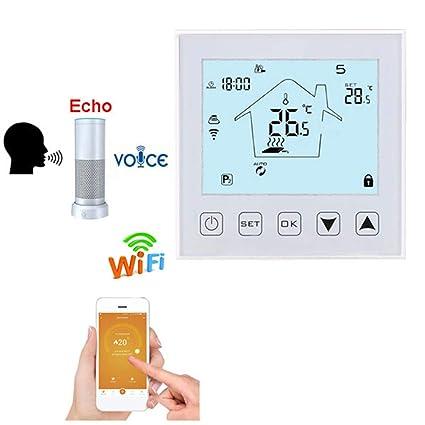Amazon.com: QAIYXM Termostato WiFi, calefacción eléctrica ...