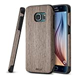 Galaxy S7 Case, BELK [Air To Beat] Non Slip [Slim Matte] Wood Tactile Grip Rubber Bumper [Ultra Light] Soft TPU Back Cover, Premium Smooth Wooden Shell for Samsung Galaxy S7 - 5.1 inch, Walnut