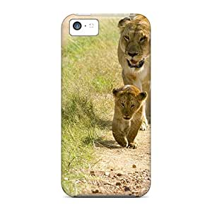 Awesome Case Cover/iphone 5c Defender Case Cover(lioness With Cubs)