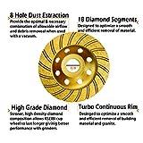 KSEIBI 644052 Super Turbo Diamond Cup wheel 4-1/2