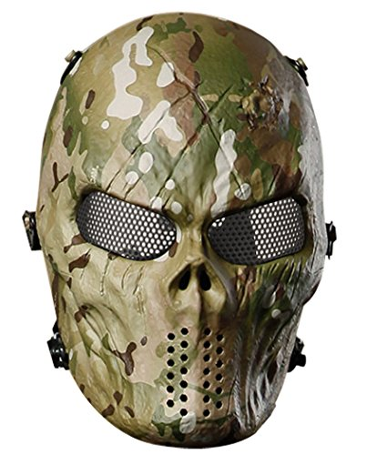 Paintball Mask, Outgeek Airsoft Mask Metal Mesh Eyes Protect