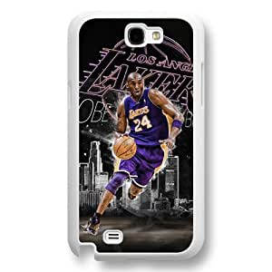 Onelee(TM) - Customized White Hard Plastic Samsung Galaxy Note 2 Case, NBA Superstar Lakers Kobe Bryant Samsung Galaxy Note 2 Case