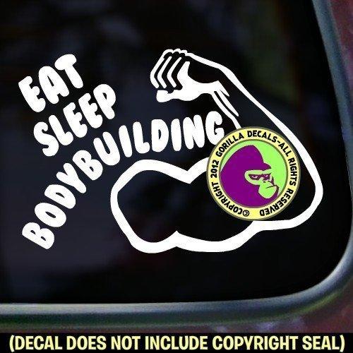 EAT SLEEP BODYBUILDING Vinyl Decal Sticker A