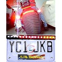 Motorcycle LED License Brake Tail Light Turn Signals Bobber Cafe Racer Scooter ATV