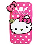 Exoic81 Cute Hello Kitty Silicon With Heart Pendant Back Case Cover For Samsung Galaxy Grand Neo ( GT-I9060 ) - PINK