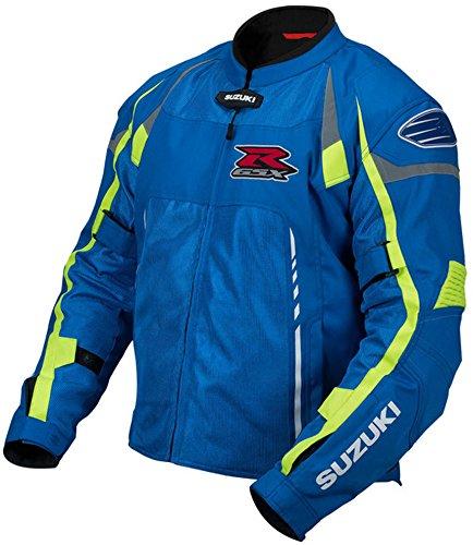 Suzuki GSX-R Mesh Motorcycle Riding Jacket by Pilot Blue ()