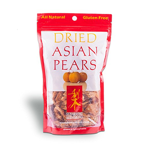 All-natural dried fruit from Pennsylvania orchard Subarashii Kudamono (Dried Asian Pears)