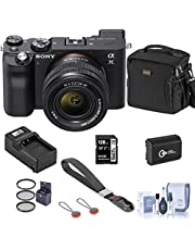 $2098 » Sony Alpha 7C Mirrorless Digital Camera with FE 28-60mm f/4-5.6 Lens, Black, Bundle with Bag, 128GB SD Card, Extra Battery, Compact Charger, Wrist Strap, Filter Kit, Cleaning Kit