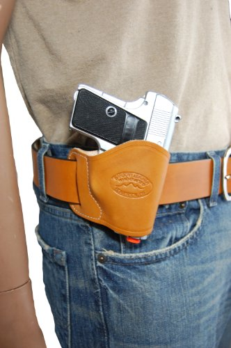 NEW Barsony Saddle Tan Leather OWB Yaqui Style Holster fo...