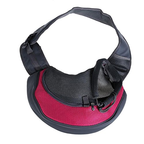 pink Red M pink Red M 365Cor Breathable Dog Front Slings Carrying Bags Mesh Comfortable Travel Shoulder Bag Dog Puppy Cat Small Pets Backpack Carriers [ pink Red M ]