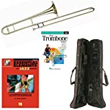 Play Trombone Today Deluxe Pack - Includes Bb Tenor Trombone, Self-Teaching Method DVD & Essential Elements For Jazz Ensemble
