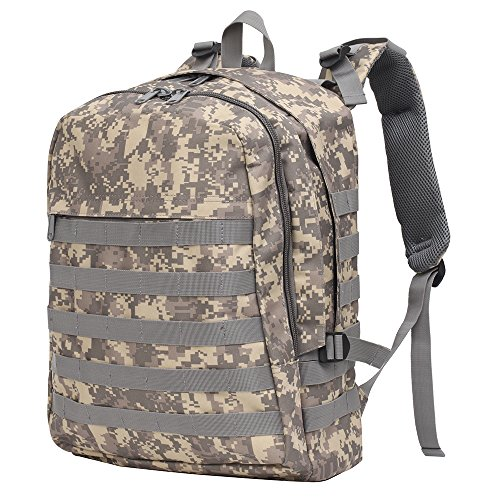 GINGOOD PUBG Tactical Backpack Military Rucksack Molle Assault Daypack Adventure Trekking Hiking Camping Climbing Traveling School 30L -