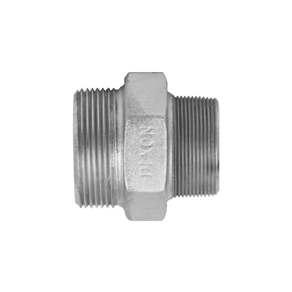 Dixon GM38 Plated Steel Air Fitting, Ground Joint Seal Male Spud, 3 NPT, Box of 5