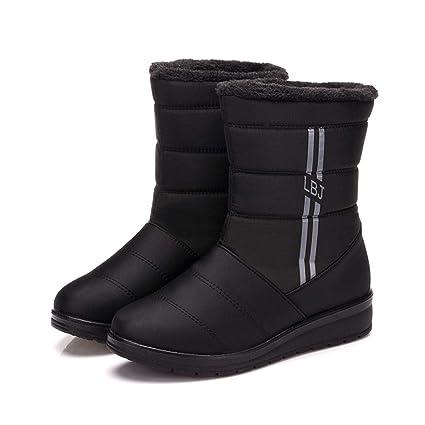 4c951e1307f Amazon.com: DETAIWIN Women's Winter Wedges Snow Boots Waterproof ...