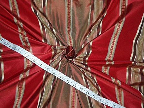 (3 yards 100% silk taffeta stripe 54