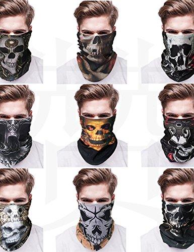 Skull Bandana Biker Motorcycle Scarf Neck Face Mask Paintball Halloween (Halloween Bandana Face Paint)