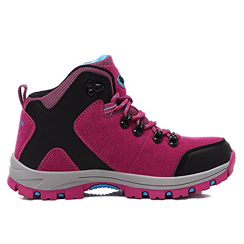 Image of FEOZYZ Womens Hiking Boots Trekking Shoes Anti-Collision mid Heel Non-Slip Climbing Boots