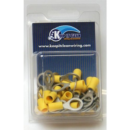 Keep It Clean RINGY5XBP Yellow 5/16\' Ring Tongues Terminal Connector